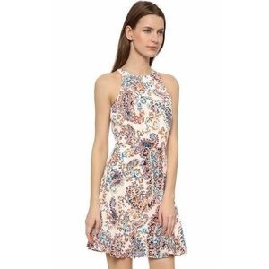 Shoshanna Behati Paisley Dress halter 10 medium
